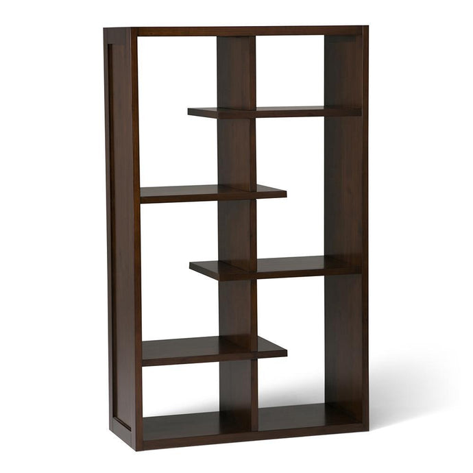 Medium Auburn Brown | Camden Solid Wood Bookcase