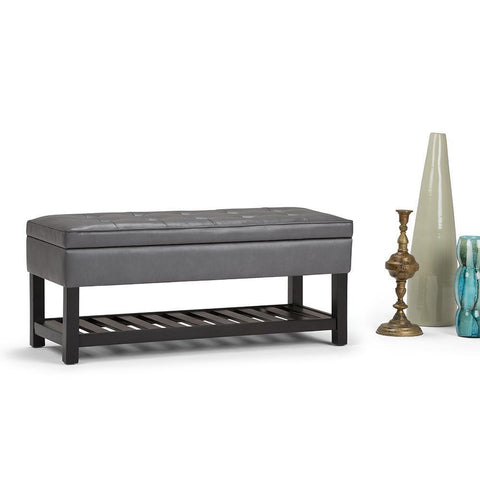 Cosmopolitan Entryway Storage Ottoman Bench