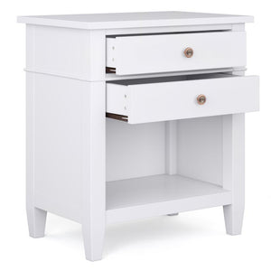 White | Carlton Bedside Table