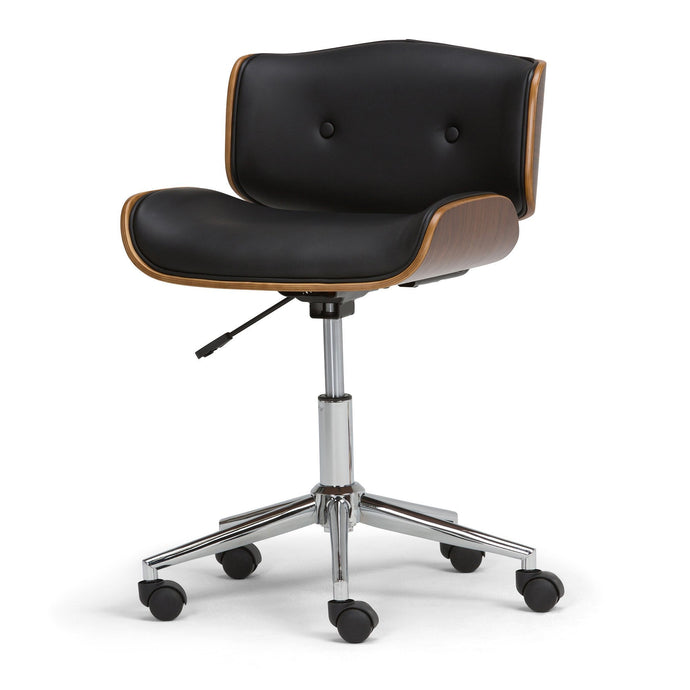 Black Faux Leather | Dax Bentwood Office Chair