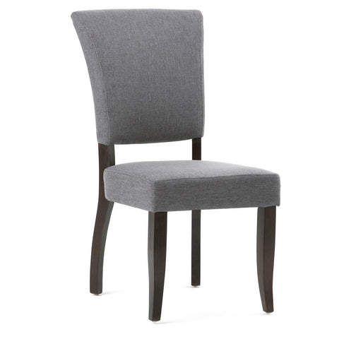 Slate Grey Linen Look Polyester Fabric |Joseph Deluxe Dining Chair (Set of 2)