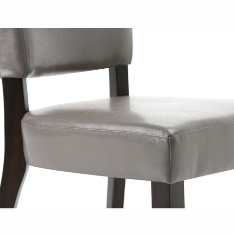 Taupe PU Faux Leather | Joseph Deluxe Dining Chair (Set of 2)