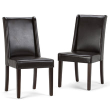 Load image into Gallery viewer, Tanners Brown PU Faux Leather | Sotherby Faux Leather Deluxe Dining Chair (Set of 2)
