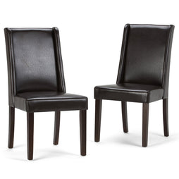 Tanners Brown PU Faux Leather | Sotherby Faux Leather Deluxe Dining Chair (Set of 2)