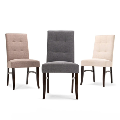 Slate Grey | Ezra Linen Look Fabric Deluxe Dining Chair (Set of 2)