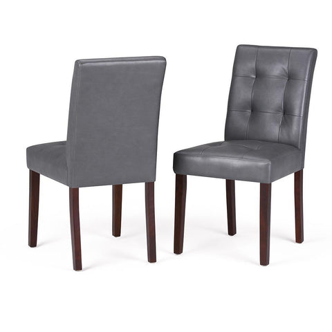 Stone Grey | Andover Linen Look Fabric Dining Chair (Set of 2)