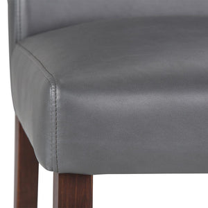 Ashford Pattern Faux Leather Parson Dining Chair (Set of 2)