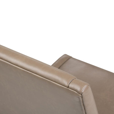 Ash Blonde Bonded Leather | Draper Mid Century Bonded Leather Dining Chair