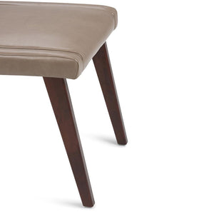 Draper Mid Century Bonded Leather Dining Chair