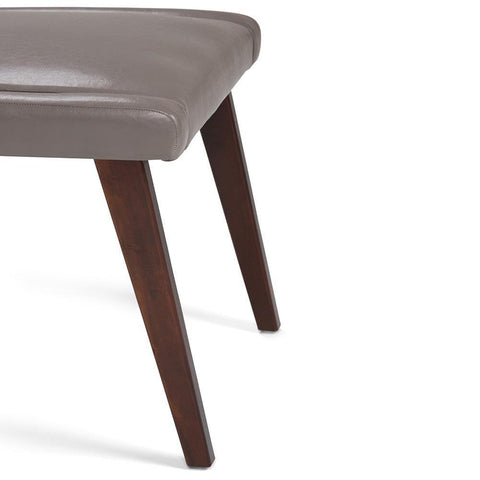 Taupe Bonded Leather | Draper Mid Century Bonded Leather Dining Chair