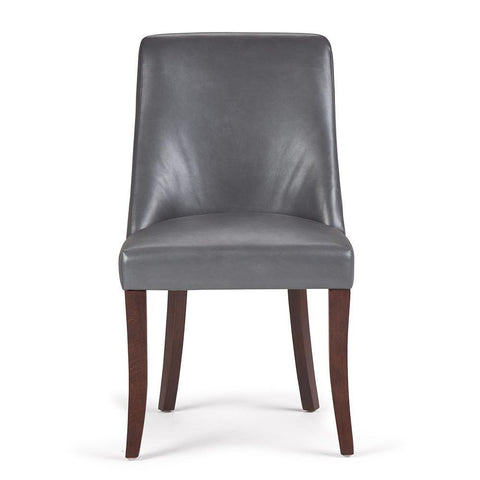 Stone Grey PU Faux Leather | Walden Linen Look Deluxe Dining Chair (Set of 2)