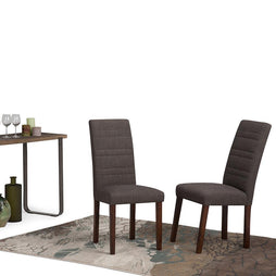 Gibson Linen Look Dining Chair in Midnight Grey