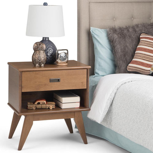 Medium Saddle Brown | Draper Mid Century Bedside Table