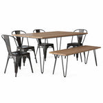 Fletcher IV 6 Piece Dining Set with Bench