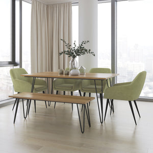 Marley 6 Piece Dining Set with Bench