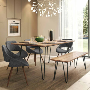 Malden IV 6 Piece Dining Set with Bench