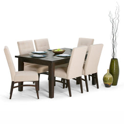 Natural | Ezra Large 7 piece Dining Set