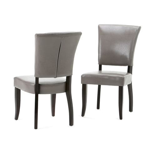 Taupe PU Faux Leather | Joseph 7 Piece Dining Set