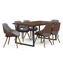 Load image into Gallery viewer, 7 Piece Set Grey and Natural | Malden II 7 Piece Dining Set with Bentwood Chair Back