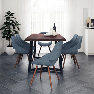 7 Piece Set Denim Blue | Malden 7 Piece Dining Set