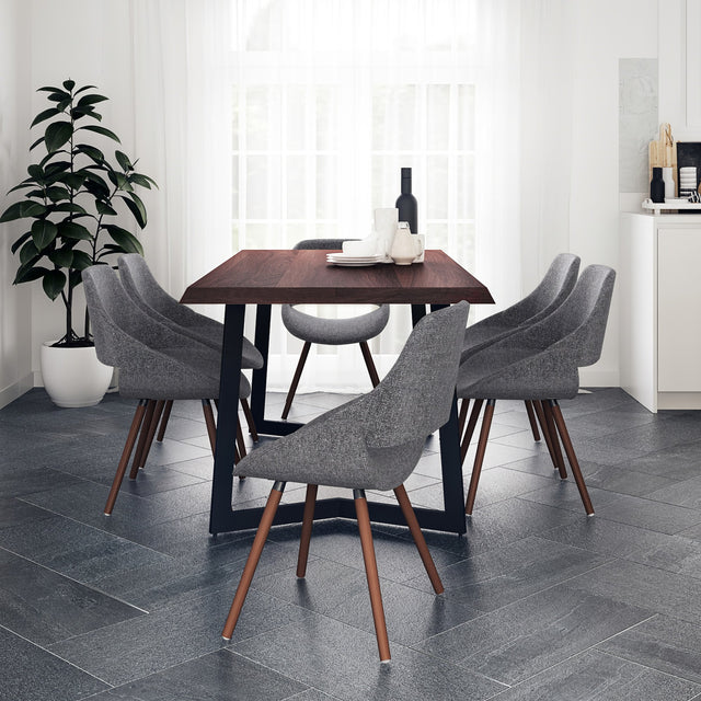 Load image into Gallery viewer, 7 Piece Set Grey | Malden 7 Piece Dining Set