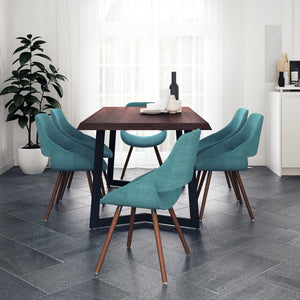 7 Piece Set Turquoise Blue | Malden 7 Piece Dining Set