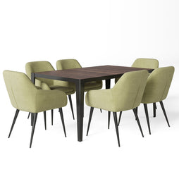 7 Piece Set Light Green | Marley III 7 Piece Dining Set