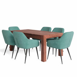 Aqua Blue | Marley II 7 Piece Dining Set