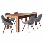 7 Piece Set Grey and Natural | Malden III 7 Piece Dining Set
