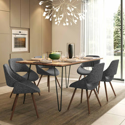 Grey and Natural | Malden IV 7 Piece Dining Set