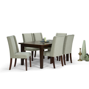 Mist Polyester Fabric | Sotherby Large 7 piece Dining Set