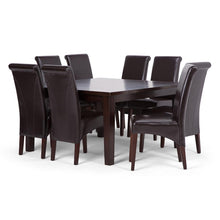 Load image into Gallery viewer, Tanners Brown PU Faux Leather | Avalon Large 9 piece Dining Set