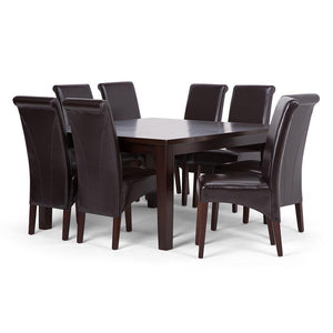 Tanners Brown PU Faux Leather | Avalon Large 9 piece Dining Set