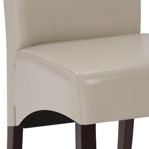 Satin Cream PU Faux Leather | Avalon Large 9 piece Dining Set