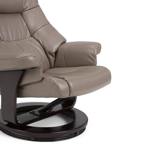 Ledi Faux Air Leather Euro Recliner in Taupe