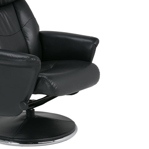 Carson Faux Air Leather Euro Recliner in Black