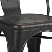 Load image into Gallery viewer, Distressed Black and Copper  | Fletcher Metal Dining Side Chair