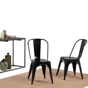Black  | Fletcher Metal Dining Side Chair