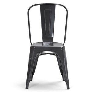 Grey  | Fletcher Metal Dining Side Chair