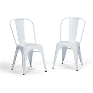 White | Fletcher Metal Dining Side Chair