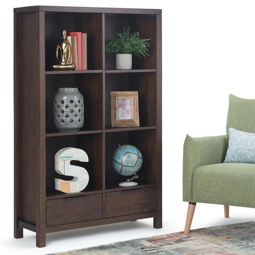 Hollander Solid Wood Bookcase with Drawers