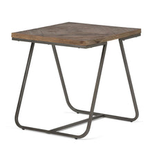 Load image into Gallery viewer, Hailey 20 inch Square End Side Table in Distressed Java Brown Wood Inlay