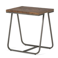 Load image into Gallery viewer, Hailey 14 x 20 inch Narrow End Side Table in Distressed Java Brown Wood Inlay