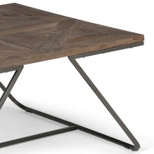 Load image into Gallery viewer, Hailey 34 inch Square Coffee Table in Distressed Java Brown Wood Inlay