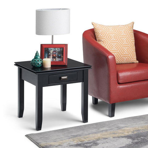 Black | Artisan End Side Table