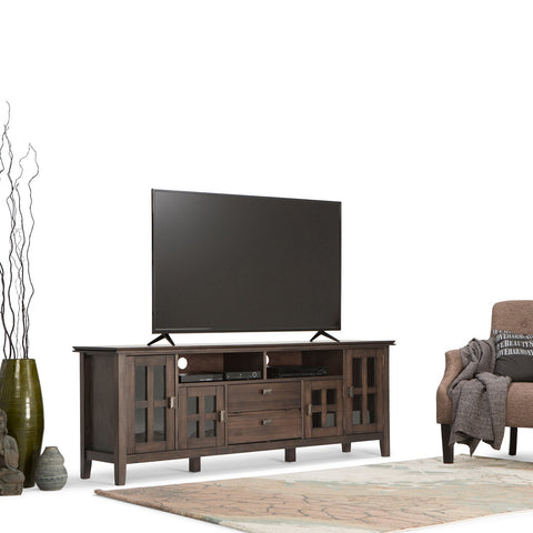 Natural Aged Brown | Artisan 72 inch Tall TV Stand