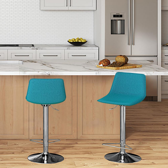 Load image into Gallery viewer, Aqua Blue | Hopkins Adjustable Bar Stool