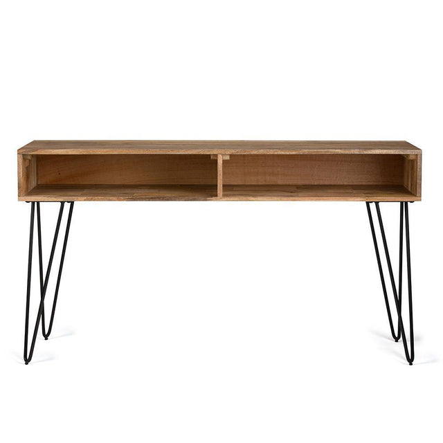 Load image into Gallery viewer, Hunter 55 x 16 inch Console Sofa Table in Natural Mango Wood