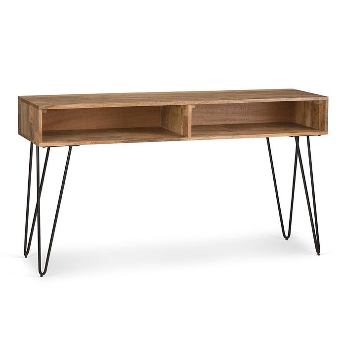 Hunter 55 x 16 inch Console Sofa Table in Natural Mango Wood