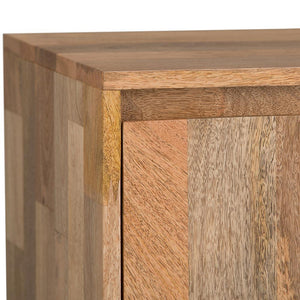 Hunter 60 x 18 inch TV Media Stand in Natural Mango Wood for TVs up to 66 inches